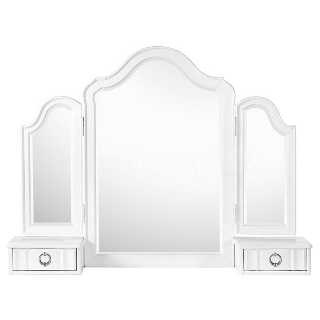 Pics On tri fold free standing vanity table mirror Larger Image Roll over image to magnify