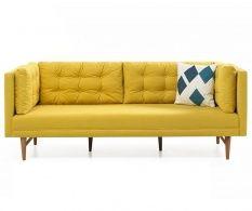 Canapea 3 locuri Retro Yellow