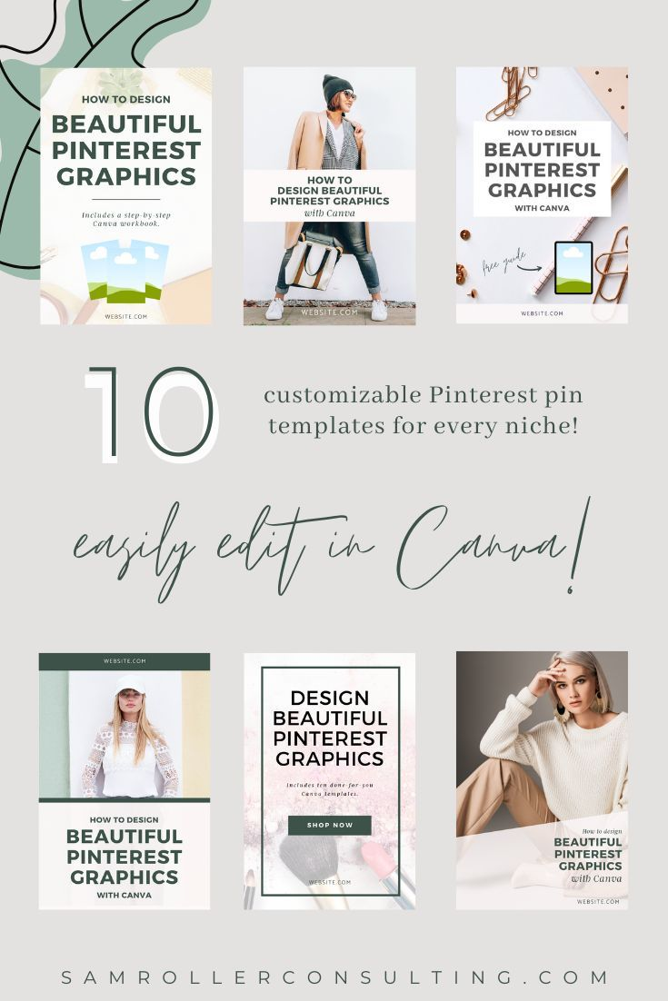 Pinterest Graphic Template Pack for Canva   Samantha Roller Co ...