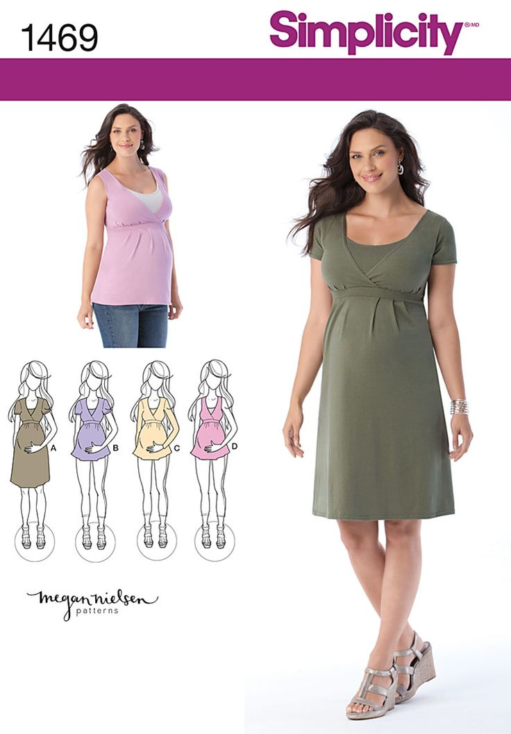 Simplicity Creative Group - Maternity and Nursing Knit Top or Dress by Megan Nielsen