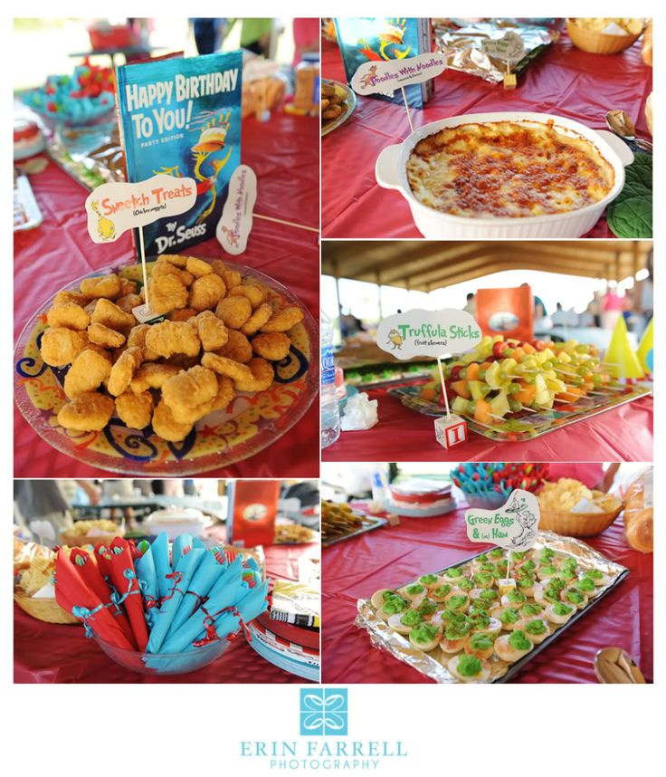 Dr doctor seuss suess books themed food parties with thing one two green eggs ham