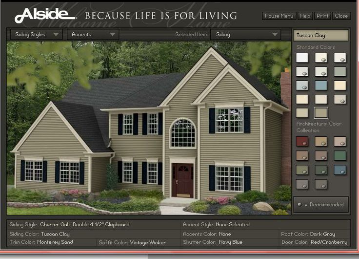 Tuscan clay and redish door with black or navy shutters for Vinyl siding and shutter color combinations