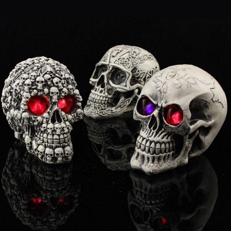 Resin Craft Artesanato Skull Halloween Party Scary Skulls
