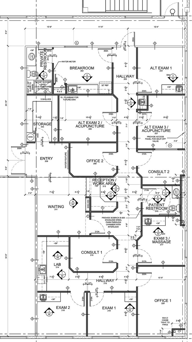 Medical Office Design Plans | Advice For Medical Office Floor Plan Design  In Tenant Buildings .