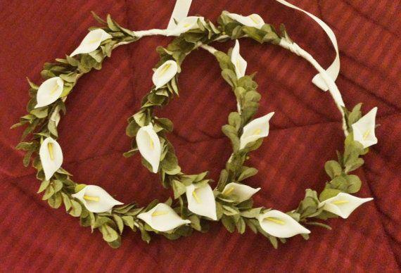 Greek Stefana Greek Wedding Crowns Calla by lotusflowerdesigns