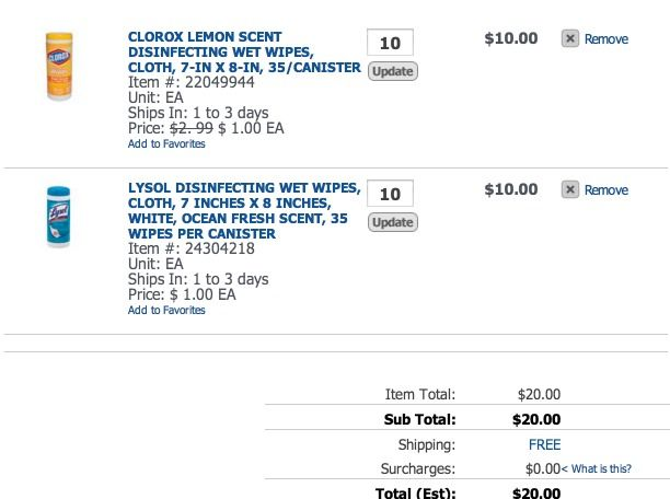 *HOT* Lysol Wipes Canisters Only $1.00 + FREE Shipping! - Raining Hot Coupons