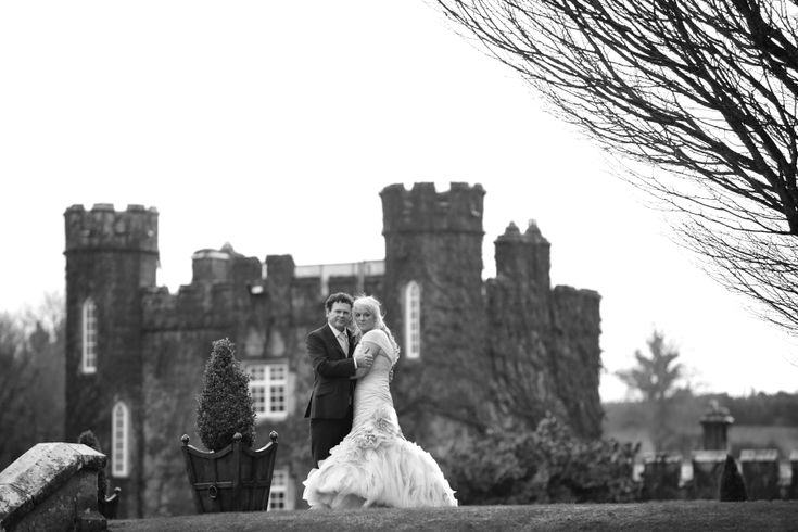 Couple in front of Dromoland