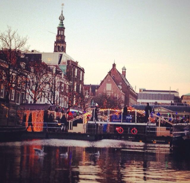 Christmas market. Leiden, Holland