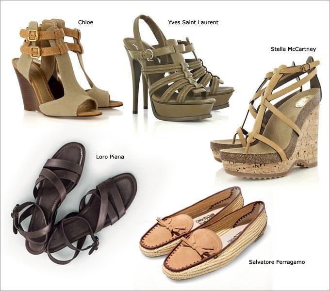 Обувь стиля сафари