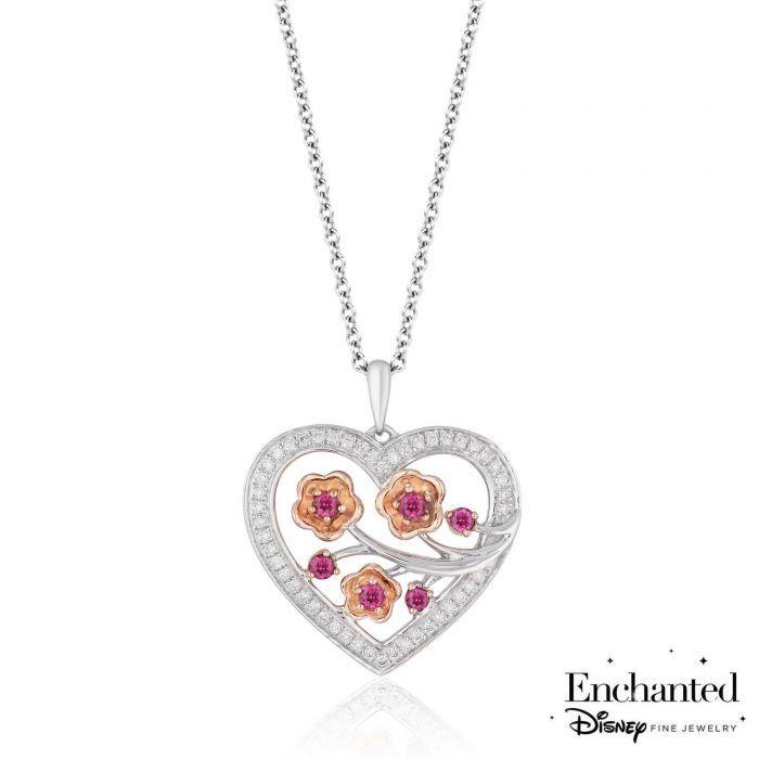 Ladies Womens Pretty single /'enchanted/' rose necklace pendant Drop Flower UK