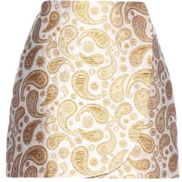 Stella McCartney Beth Paisley Jacquard Miniskirt ($290) ❤ liked on Polyvore featuring skirts, mini skirts, white, paisley skirt, stella mccartney skirt, paisley print skirt, short skirts and short white skirt