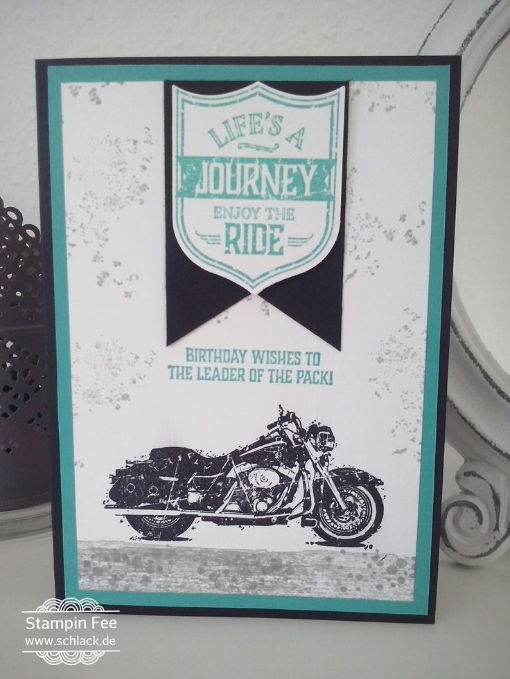 stampin one wild ride man Card motorcicle male Card Männer Karte Motorrad Mopet