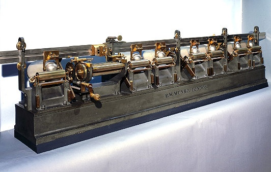 Kelvin's Harmonic Analyser    Lord Kelvin used calculating machines to predict tides in harbors—critical for an island nation! Integrators enabled him to solve differential equations, but their limited torque curtailed the machine's utility.