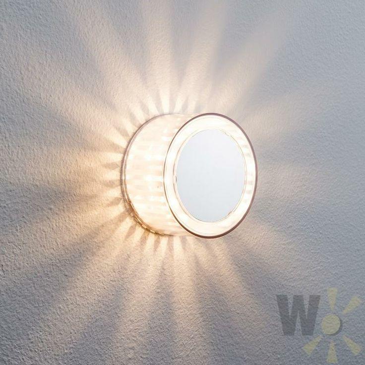 Superb Dekorative LED Wand oder Deckenleuchte als Effektleuchte Chrom matt Transparente Effektfolie