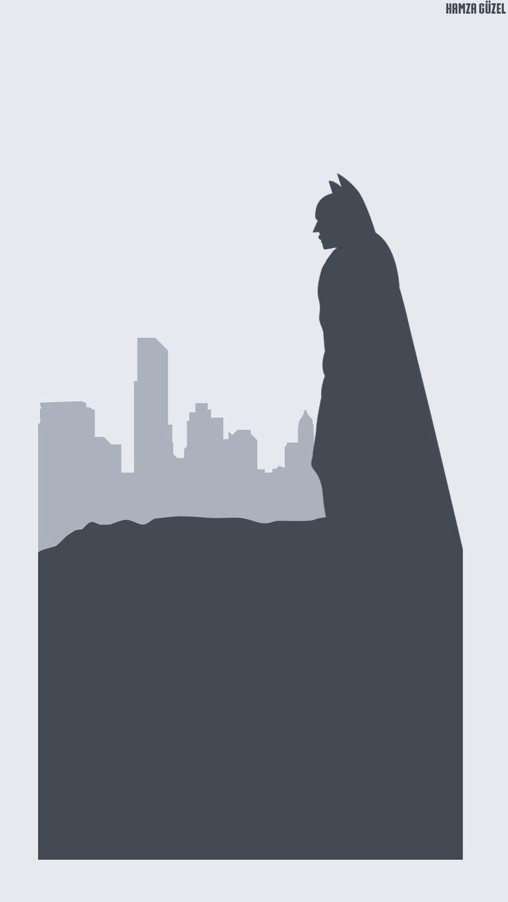 Batman | Minimalist Wallpaper çalışması. Behance : behance.net/gallery/38800585/Batman-Minimalist  #batman #dc #wallpaper #minimalist #agackakanfani #hamzaguzel #comics