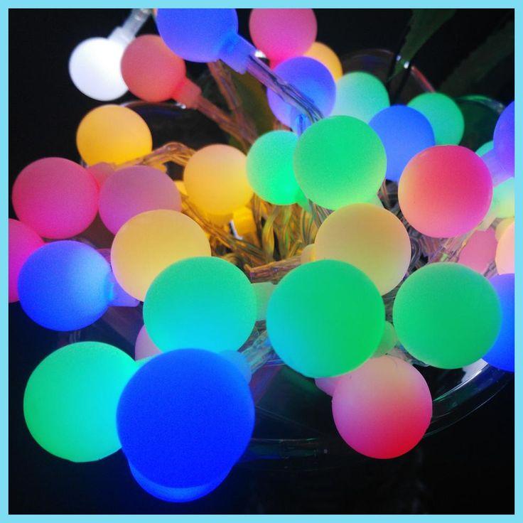 Xmas Nuevos 9 Colores la bola LED de Cuerda 10M 80 LED Decoraccion para Jardin y Casa Luces Navidad Novedad de la Boda Eventos