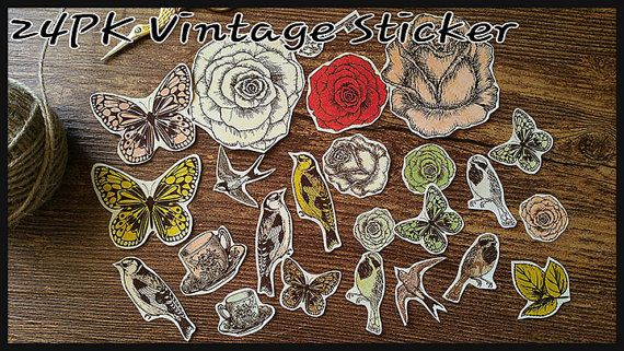 Check out this item in my Etsy shop https://www.etsy.com/listing/492587184/24x-vintage-stickersscrapbookpaper