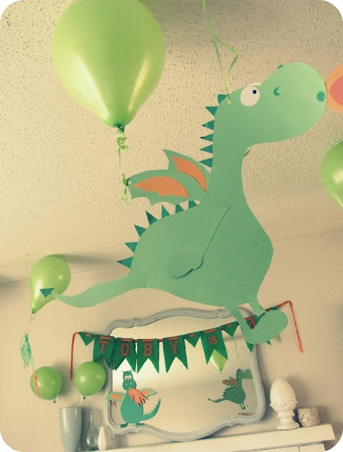 dragon paper decor