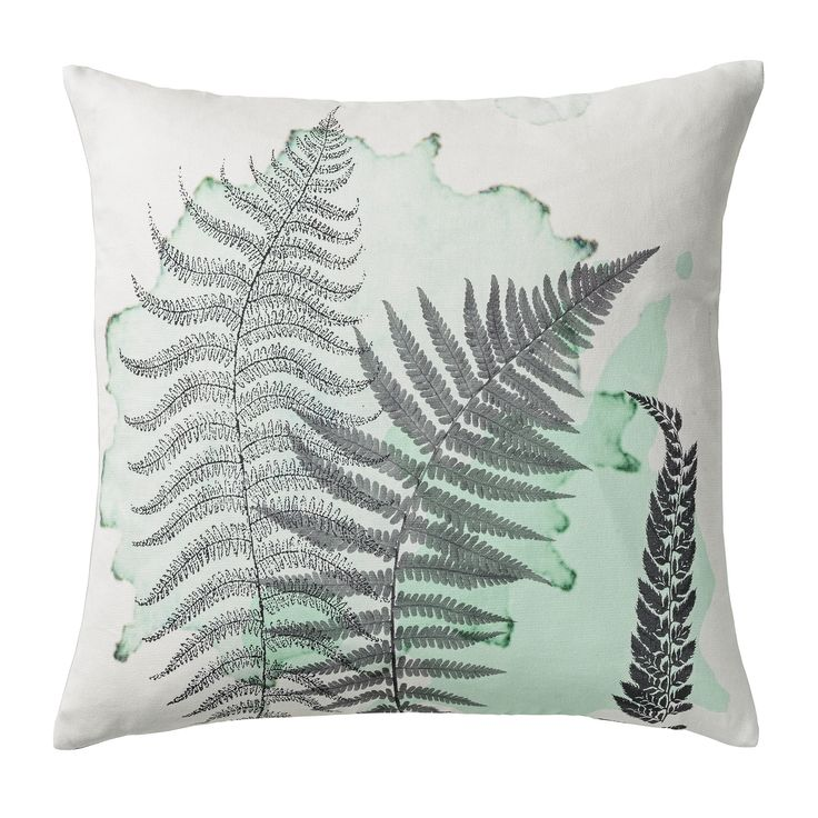 Cushion with botanical print from Bloomingville.