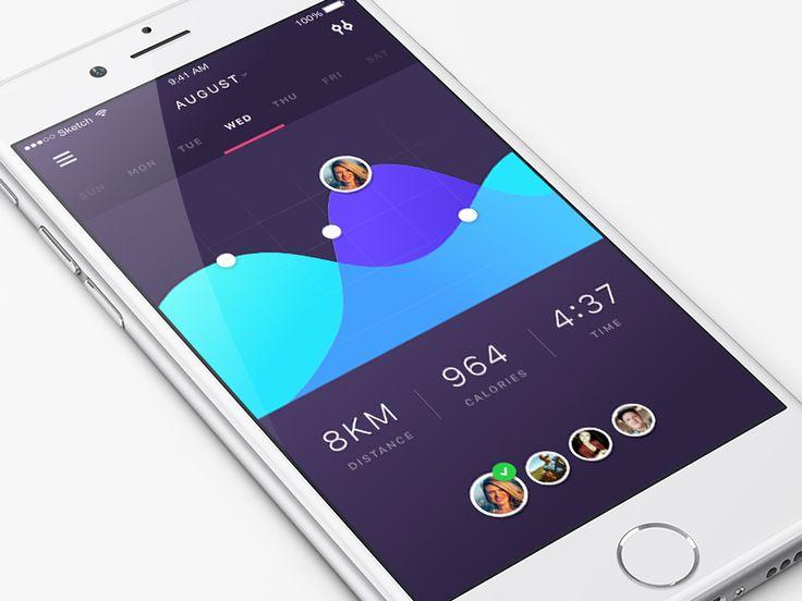 App Design - iPhone Social Fitness App