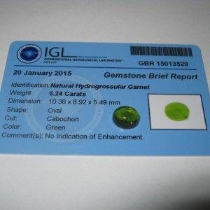 Green Hyrogrossular Garnet 5.24 carat