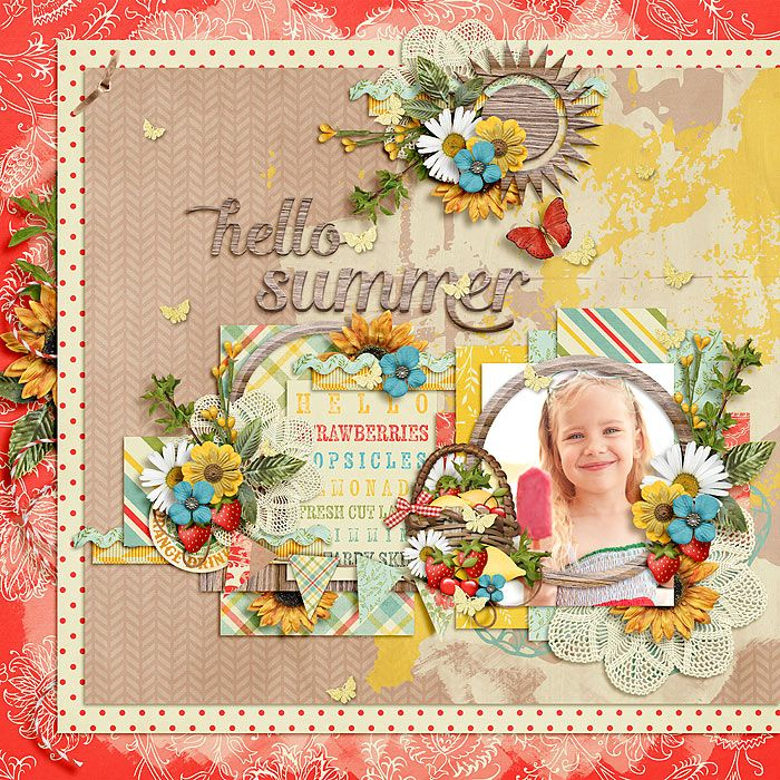 Hello Summer - The Daily Digi June Pack by Amber Shaw https://thedailydigi.com Clusters and Colors - Garden Party Templates by Tinci Designs http://scrapstacks.com/shop/Cluster-and-colors-Garden-party-by-Tinci-Designs.html