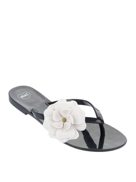 Mel by Melissa Shoes - Honey III Flower Flats - Thongs $39