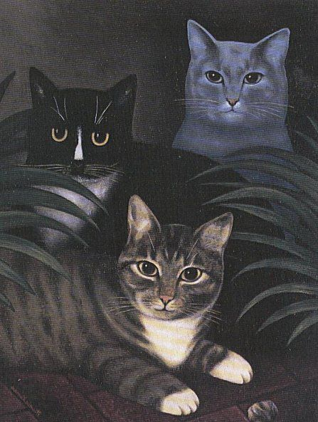 Martin Leman - Painted Cat - http://www.martinleman.co.uk/untitled-gallery-45046