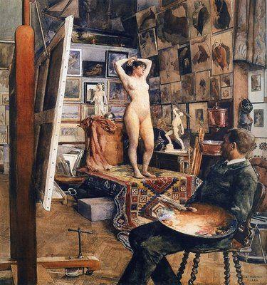 """Studio scene"" by Edouard Joseph Dantan (1848 - 1897) . ... #Victorian... #studio... #atelier"