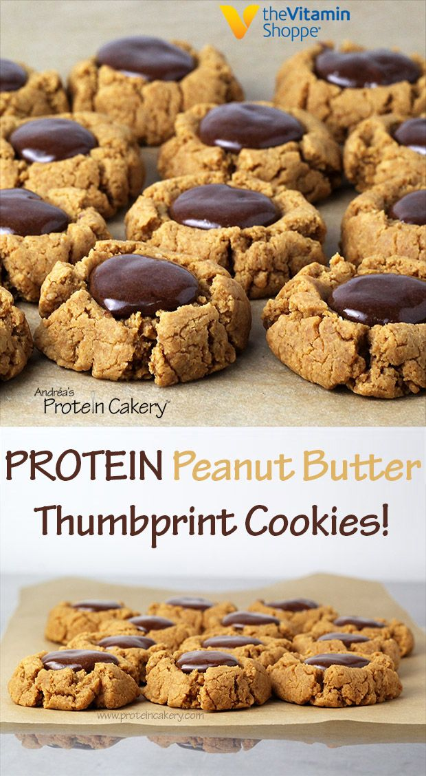 Protein Peanut Butter Thumbprint Cookies - gluten free, pb2 recipes, powdered peanut butter recipe, peanut butter protein recipe