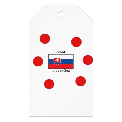 Slovak Language And Slovakia Flag Design Gift Tags - craft supplies diy custom design supply special