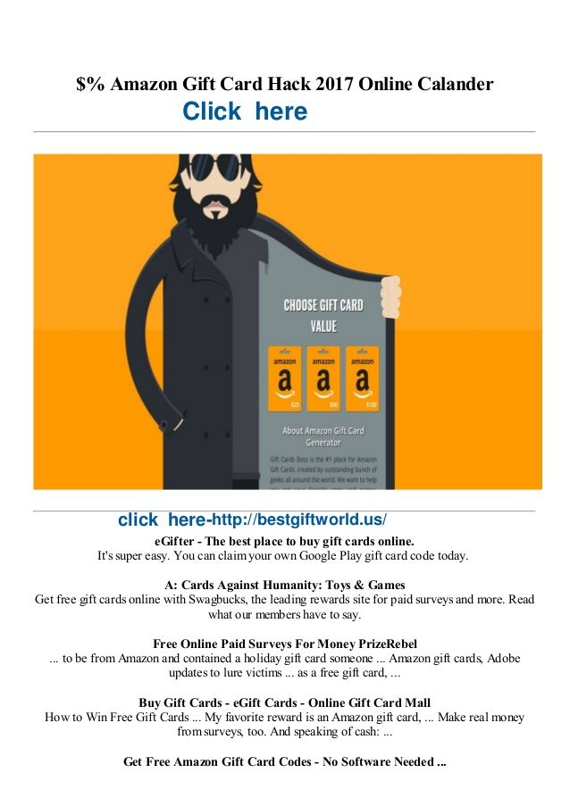 $% Amazon Gift Card Hack 2017 Online Calander  eGifter - The best place to buy gift cards online.  It's super easy. You can ...