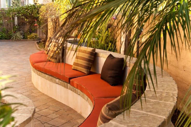 fade resistant outdoor bench cushions patio mediterranean with patio furniture copper garden benches