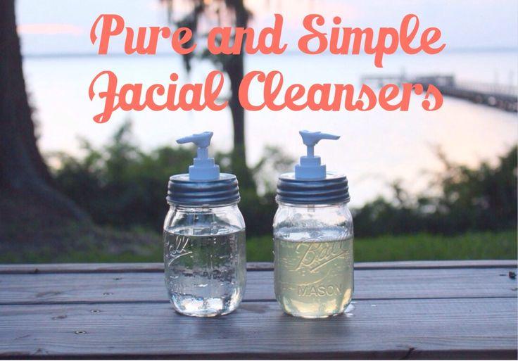 Homemade DIY recipes for face wash and facial toner using essential oils!