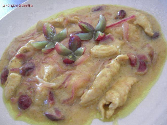 Ricetta Altro : Pollo al curry con petali di uva da Le4stagioni