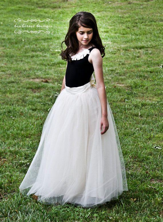 tutu skirt for girls flower girl dress Soft Tulle Champagne