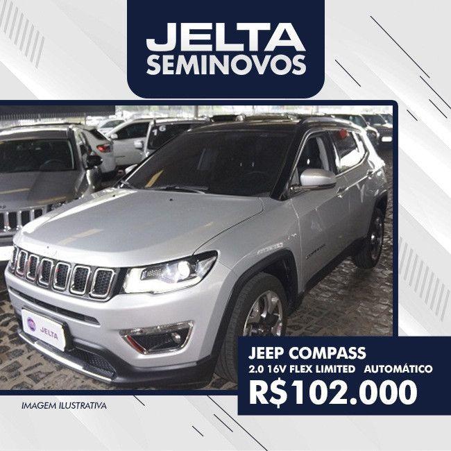 Jeep Compass 2 0 16v Flex Limited Automatico 2016 Por Apenas R
