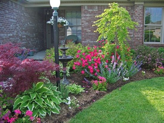17 best images about front yard landscaping on pinterest for Best plants for front flower bed