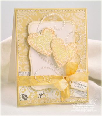 Adorable idea by Debbie Olson: Wedding Cards, Handmade Cards, Cardmaking, Card Making, Card Ideas, Valentine, Embrace Happiness, Cards Heart, Heart Card