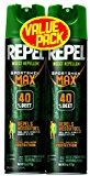 Repel 33802 2 to 6-1/2-Ounce Sportsmen Max Formula Insect Repellent Aerosol 40-Percent DEET Spray Case Pack of 2