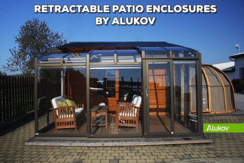 Different uses of retractable patio enclosure CORSO by Alukov