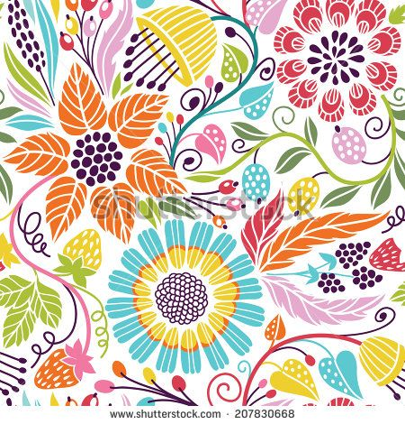 Floral Vector Stock Photos, Images, & Pictures   Shutterstock