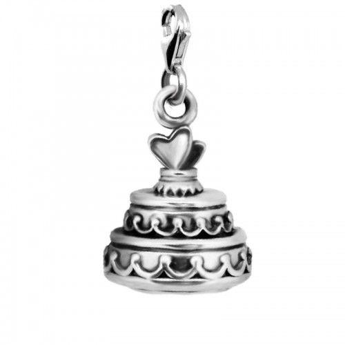 подвеска тортик с сердечками ledile чармы ручная работа charms charmbracelet шармы handmade vintage cake silver