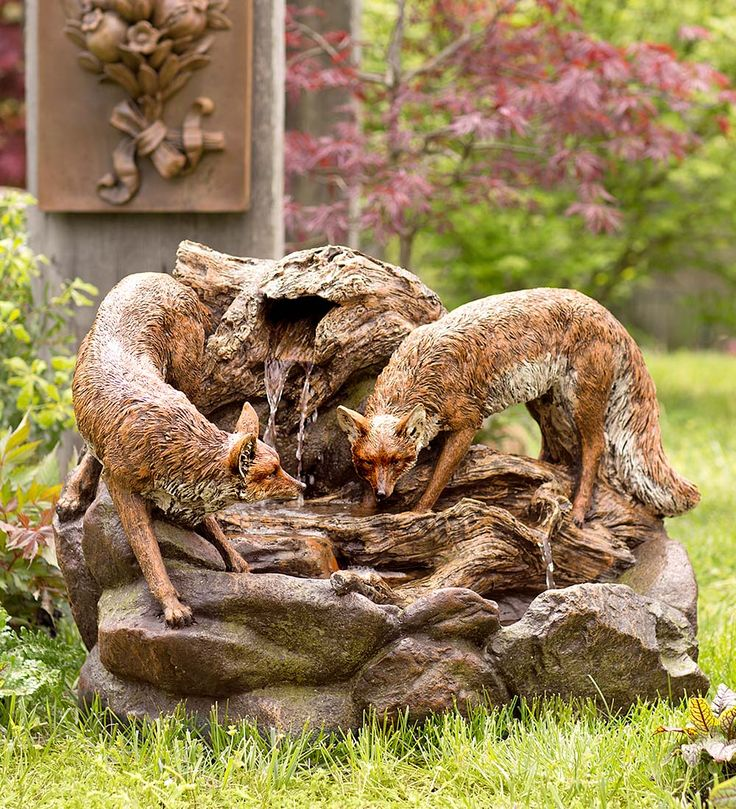 This Lighted Foxes Fountain Is Sure To Create A Magical Woodland Scene For  Your Guests.