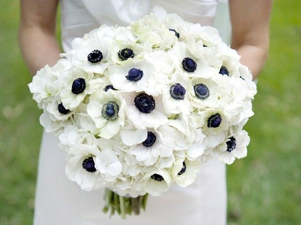 17 Best Ideas About Anemone Wedding Bouquet On Pinterest