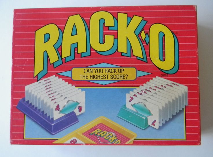 Rack-O Racko 1992 Parker Brothers traditional tabletop card/board game great sha #ParkerBrothers