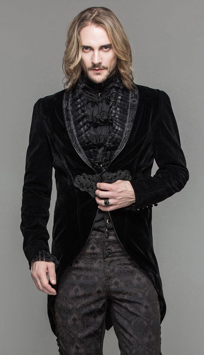 Nouveau produit : Veste homme en velours noir attache brodee et col decore elegant aristocrate gothique Vous aimez ? / New product do you like ? Prix: 99.90 #new #nouveau #japanattitude #vestes #manteaux #gothique #gothic #elegant #aristocrat #victorien #victorian #goth #noir #homme #veste #elegante #baroque #motif #broderie #velours #froufrou #queue #pie #devil #fashion #ct05201 #classe #smoking #black #man #jacket #pattern #embroidery #velvet #tail #tailcoat #classy #tuxedo
