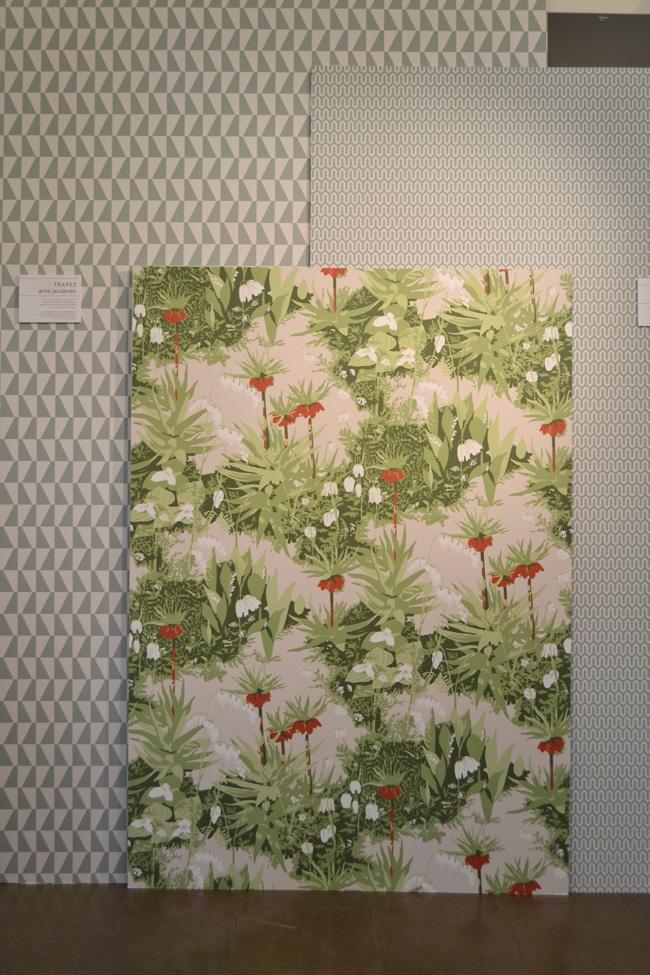 Arne Jacobsen wallpaper designs by BorasTapeter.