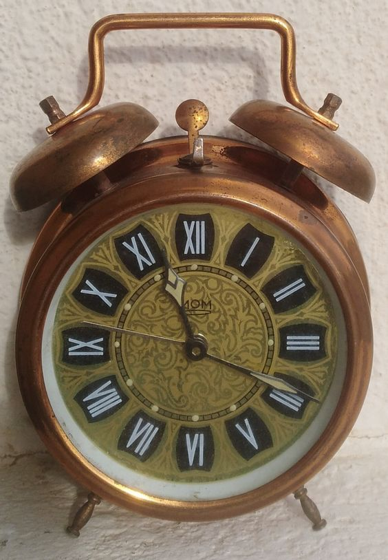 Vintage Kienzle Alarm Clock Copper Brass   Vintage alarm ...