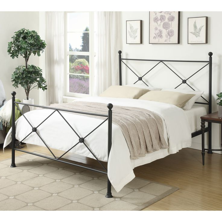home meridian becket standard queen bed from hayneedlecom - Standard Queen Bed Frame